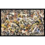 """Amanti Art Jackson Pollock """"Convergence"""" Framed Art, 22 3/4"""" x 37"""""""