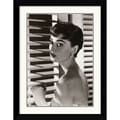 Amanti Art in.Audrey Hepburn Blindsin. Framed Art, 32.62in. x 25.38in.
