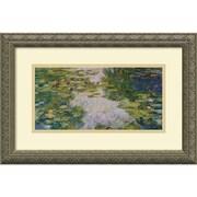 "Amanti Art Claude Monet ""The Water-Lily Pond, 1918"" Framed Art, 12.12"" x 18.12"""