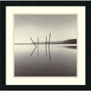 "Amanti Art Michael ""Poles, Salt Ponds, Moss Landing, California, USA 1989"" Framed Art, 20"" x 20"""