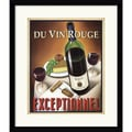 Amanti Art Steve Forney in.Du Vin Rouge Exceptionnelin. Framed Print Art, 20in. x 17.12in.