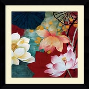 "Amanti Art Hong Mi Lim ""Lotus Dream I"" Framed Art, 26.62"" x 26.62"""