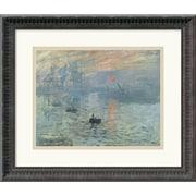 "Amanti Art Claude Monet ""Impressions at Sunrise, 1873"" Framed Art, 15 1/4"" x 17 3/4"""