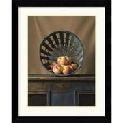 Amanti Art Ken Marlow White Peaces Framed Print Art, 29.62 x 24.12