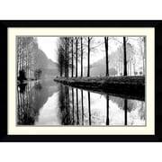 "Amanti Art Bill Philip ""Canal, Normandy"" Framed Print Art, 26.62"" x 35.12"""