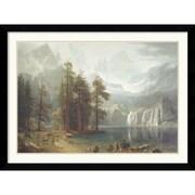 """Amanti Art Albert Bierstadt """"Sierra Nevada"""" Framed Print Art, 31.5"""" x 42.62"""""""