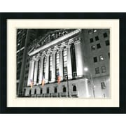 "Amanti Art Phil Maier ""New York Stock Exchange at Night"" Framed Print Art, 18 3/4"" x 23 1/4"""