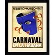 Amanti Art in.Carnaval, Habana, 1941in. Framed Print Art, 31.62in. x 25.38in.