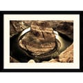 Amanti Art Andy Magee in.Horseshoe Bendin. Framed Print Art, 28.62in. x 38.62in.