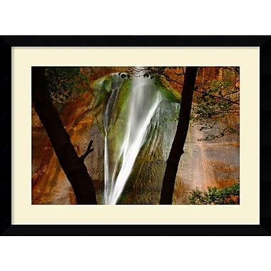 Amanti Art Andy Magee in.Calf Creek Fallsin. Framed Print Art, 28.62in. x 38.62in.