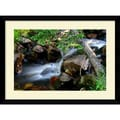 Amanti Art Andy Magee in.Mountain Streamin. Framed Print Art, 28.62in. x 38.62in.