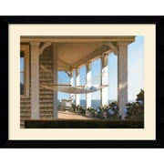 "Amanti Art Daniel Pollera ""Seaside Hammock"" Framed Print Art, 25.62"" x 31.62"""