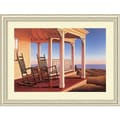 Amanti Art Daniel Pollera in.Twilight on the Verandain. Framed Print Art, 33.88in. x 44.38in.