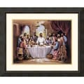Amanti Art Quintana in.The Last Supperin. Framed Print Art, 28.38in. x 34.38in.