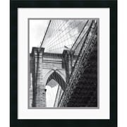 "Amanti Art Phil Maier ""Under the Brooklyn Bridge"" Framed Print Art, 20"" x 17"""