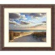 """Amanti Art Daniel Pollera """"Sunset Beach"""" Framed Print Art, 17 1/4"""" x 20 1/4"""""""