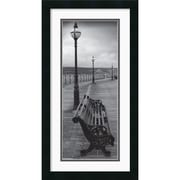 "Amanti Art ""Bench on the Boardwalk"" Framed Print Art, 26"" x 14"""