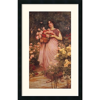 Amanti Art Richard Willes Maddox in.In a Garden of Rosesin. Framed Art, 31in. x 20in.