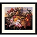 Amanti Art Joseph Goblet in.Still Life With Flowersin. Framed Print Art, 31.62in. x 36.62in.