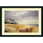 "Amanti Art Daniel Pollera ""Beach House"" Framed Print Art, 31.12"" x 43.12"""