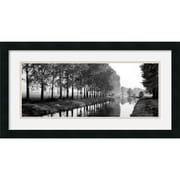 "Amanti Art ""Basque Canal"" Framed Print Art, 14"" x 26"""