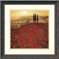 Amanti Art Steve Thoms in.Poppy Fieldin. Framed Print Art, 18 1/4in. x 18 1/4in.