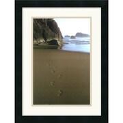 "Amanti Art Ruth Burke ""Ocean Footprints"" Framed Print Art, 21"" x 16"""