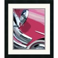 Amanti Art Mike Patrick in.Tail Fins and Two Tones Iin. Framed Print Art, 20in. x 17in.