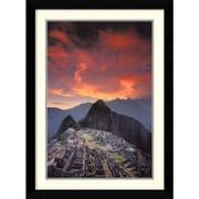 """Amanti Art Galen Rowell """"Sunset Over Machu Picchu, Peru"""" Framed Print Art, 34.62"""" x 25.62"""""""
