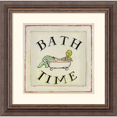 Amanti Art Zaricor in.Bathtime IIin. Framed Print Art, 14 1/4in. x 14 1/4in.