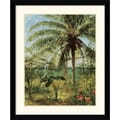 Amanti Art Albert Bierstadt in.Palm Tree, Nassauin. Framed Print Art, 36.62in. x 30.62in.