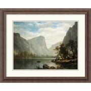 "Amanti Art Albert Bierstadt ""Mirror Lake, Yosemite Valley"" Framed Print Art, 18 1/4"" x 22 1/4"""