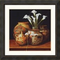 Amanti Art Chuck Sabatino in.Calla Lilies and Canteenin. Framed Print Art, 31.38in. x 31.38in.