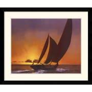 Amanti Art Diane Romanello Sails in the Sunset Framed Print Art, 30.62 x 36.62