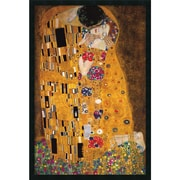 "Amanti Art Gustav Klimt ""The Kiss (Le Baiser/Il Baccio), 1907"" Framed Print Art, 37.38"" x 25.38"""