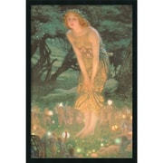 """Amanti Art Edward Robert Hughes """"Midsummer Eve"""" Framed Print Art, 37.38"""" x 25.38"""""""