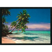 "Amanti Art ""Tropical Beach"" Framed Print Art, 25.38"" x 37.38"""