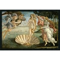 Amanti Art Sandro Botticelli in.The Birth of Venus ca. 1484in. Framed Print Art, 25.38in. x 37.38in.