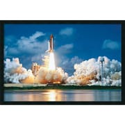"Amanti Art ""Space Shuttle Take-Off"" Framed Print Art, 25.38"" x 37.38"""