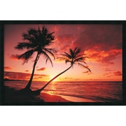 "Amanti Art ""Tropical Beach - Sunset"" Framed Print Art, 25.38"" x 37.38"""