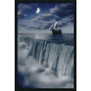 "Amanti Art ""Sailboat at Earth's End"" Framed Print Art, 37.38"" x 25.38"""