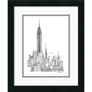 "Amanti Art Avery Tillmon ""Empire State"" Framed Print Art, 18"" x 15"""