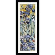"""Amanti Art Vincent Van Gogh """"Iris Garden (Detail)"""" Framed Print Art, 42.62"""" x 18.62"""""""