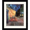 Amanti Art Vincent Van Gogh in.Cafe Terrace At Night1 1888in. Framed Print Art, 27.62in. x 23.62in.