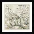 Amanti Art Vincent Van Gogh in.Almond Branches in Tanin. Framed Print Art, 26.62in. x 26.62in.