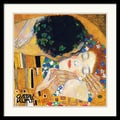 Amanti Art Gustav Klimt in.The Kiss (Der Kuss), Detail 1in. Framed Print Art, 25in. x 25in.