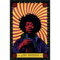 Amanti Art in.Jimi Hendrix - Psychedelicin. Framed Art, 37.38in. x 25.38in.