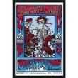 """Amanti Art """"Family Dog - Grateful Dead - Skeleton and Roses"""" Framed Print Art, 37.38"""" x 25.38"""""""