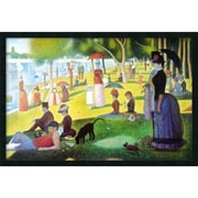 "Amanti Art Georges ""Sunday Afternoon on the Island of La Grande Jatte.."" Framed Art, 25.38"" x 37.38"""