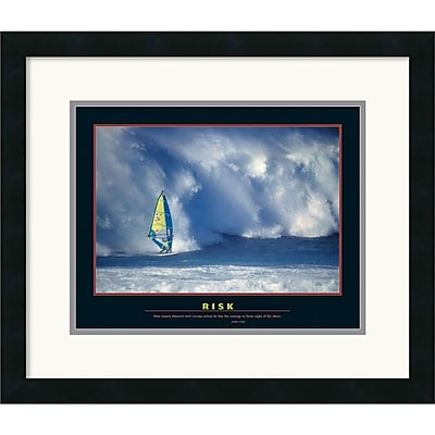 """""Amanti Art """"""""Risk"""""""" Framed Print Art, 18"""""""" x 21"""""""""""""" 966776"